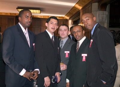 Chad Butler, Muhammad Shihab, Eugene Blazhko, Saji Chacko, and Damien Butts at the Fox IT awards