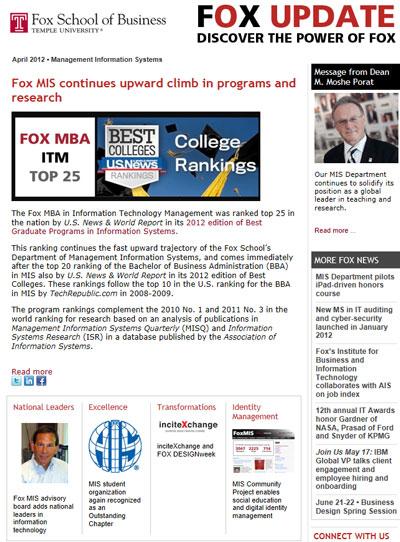 Fox Update April 2012