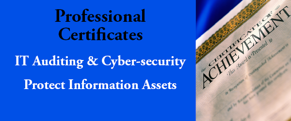 New Certificate Programs in IT Auditing and Cyber-security