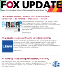 Fox MIS Update March 2017