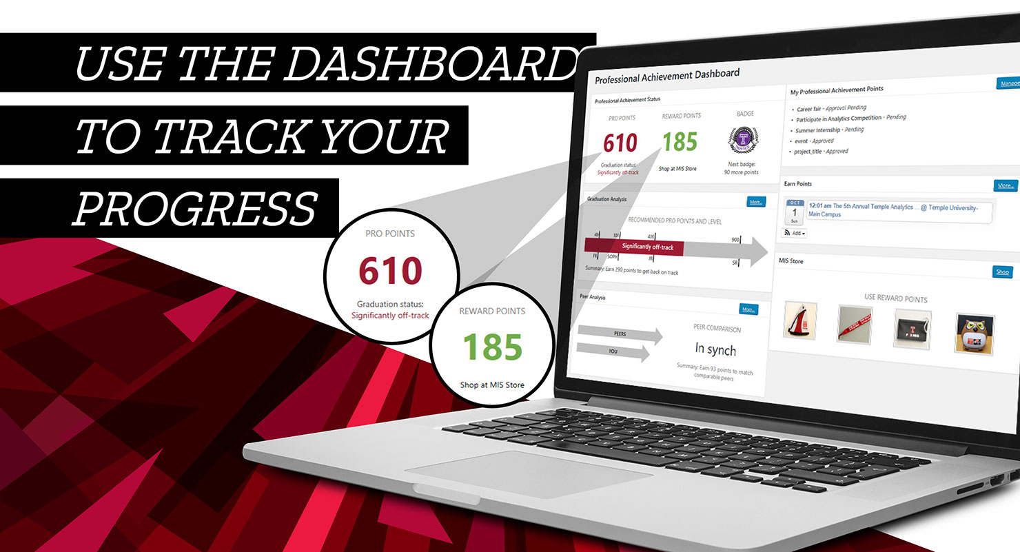 Professional Achievement Dashboard